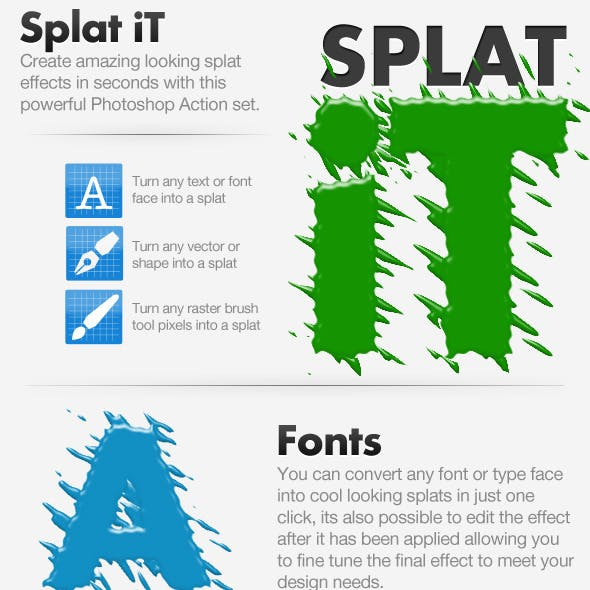 Splat iT - Give Your Work The Splat Effect!