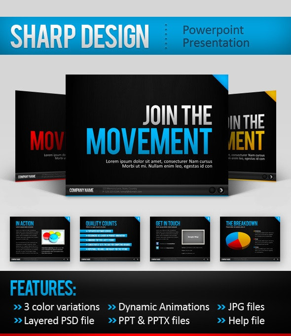 SharpDesign Powerpoint Template - PowerPoint Templates Presentation Templates
