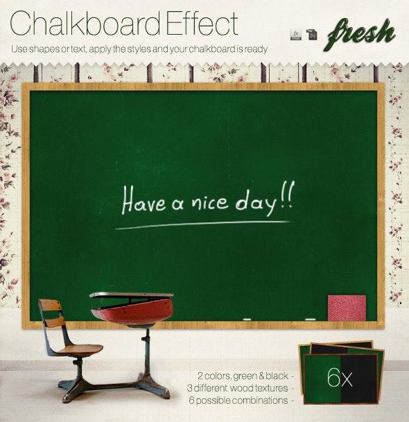 Realistic Chalkboard Fx Styles - Text Effects Styles
