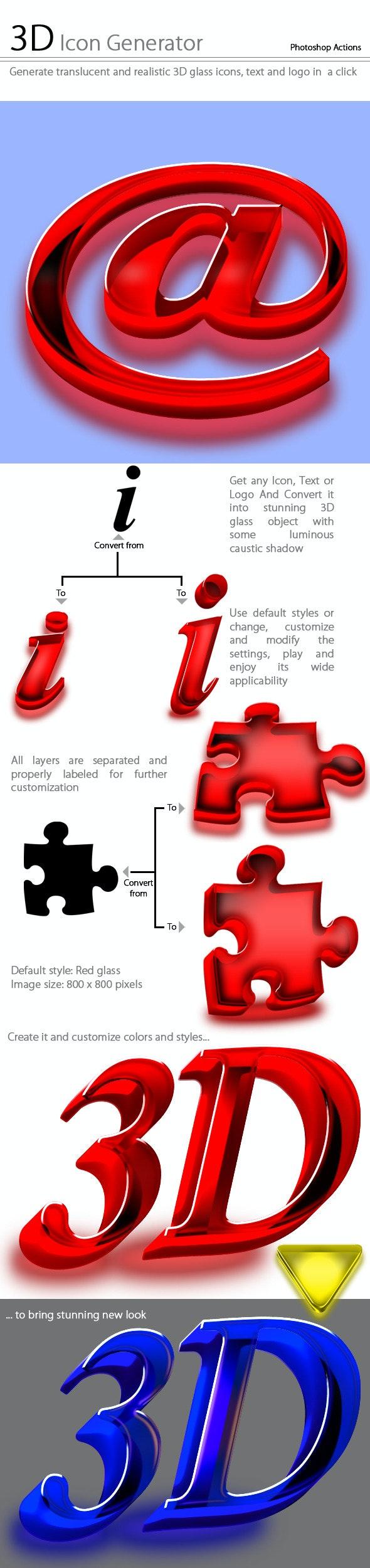 3D Icon Generator - Utilities Actions