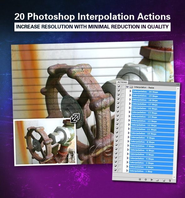 Image Interpolation Action - Photo Effects Actions