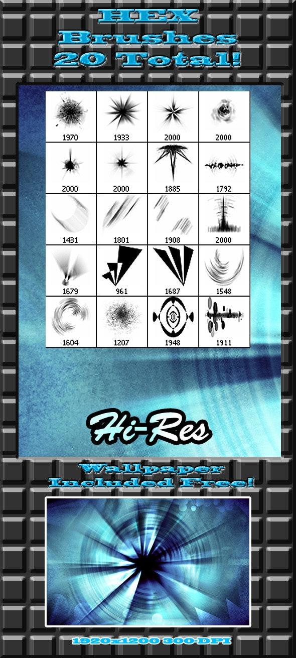 """20 Hi-Res """"HEX"""" Brushes - Techno / Futuristic Brushes"""