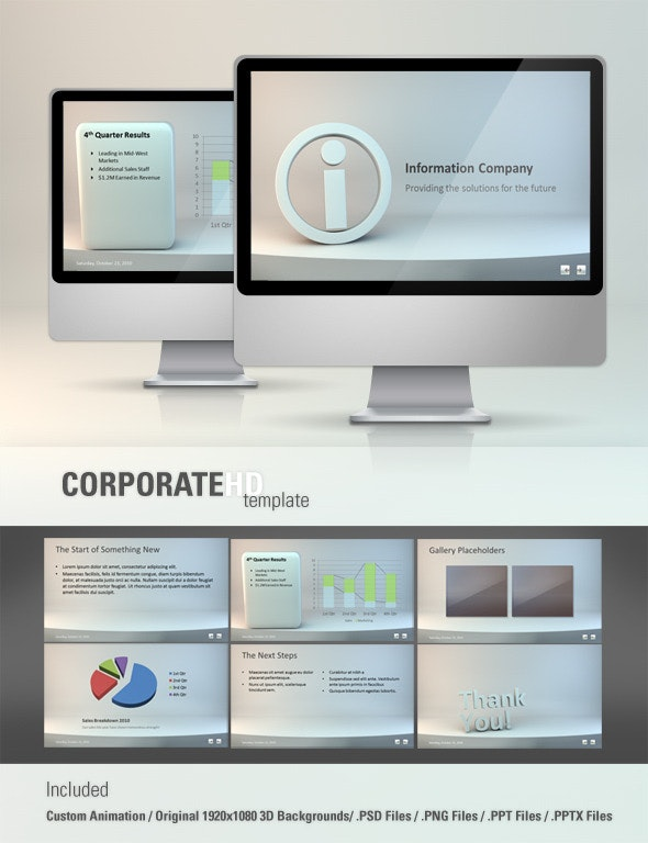 Corporate HD Powerpoint Template - PowerPoint Templates Presentation Templates