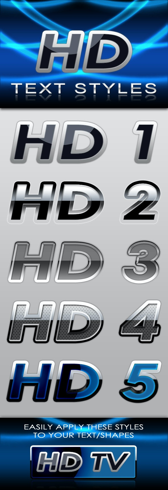 HD Text Styles - Text Effects Styles