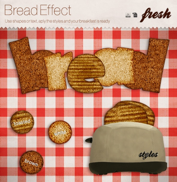 Realistic Bread Fx Styles - Text Effects Styles