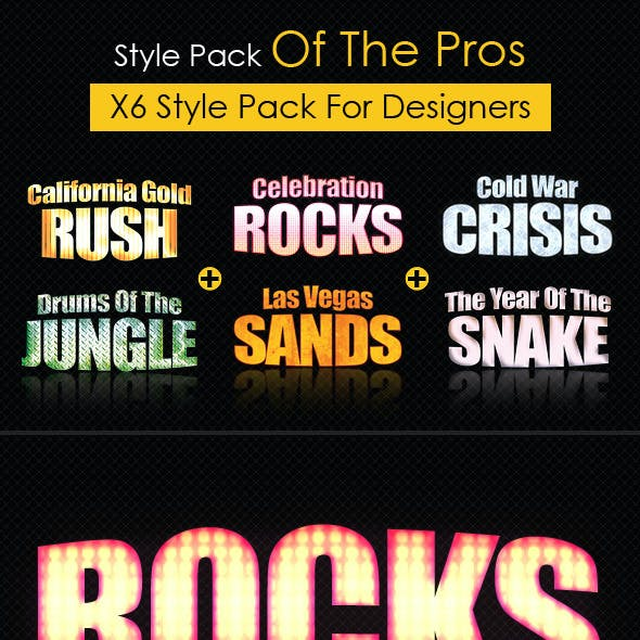 Text Style Pack of the Pros!