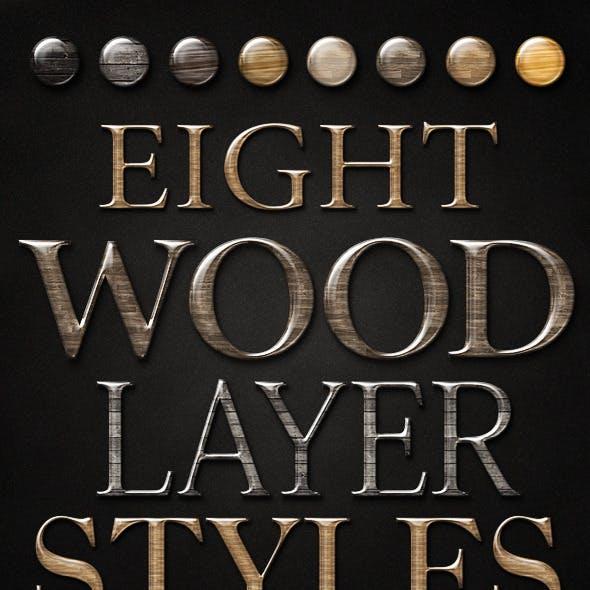 Smooth Glossy Elegant Wood Layer Styles