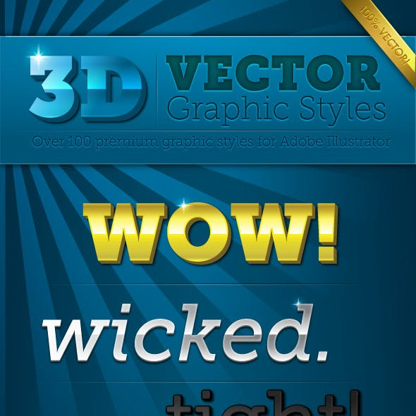 3D Vector Graphic Styles Pack