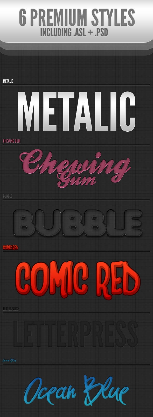 6 Must-have Styles - Text Effects Styles