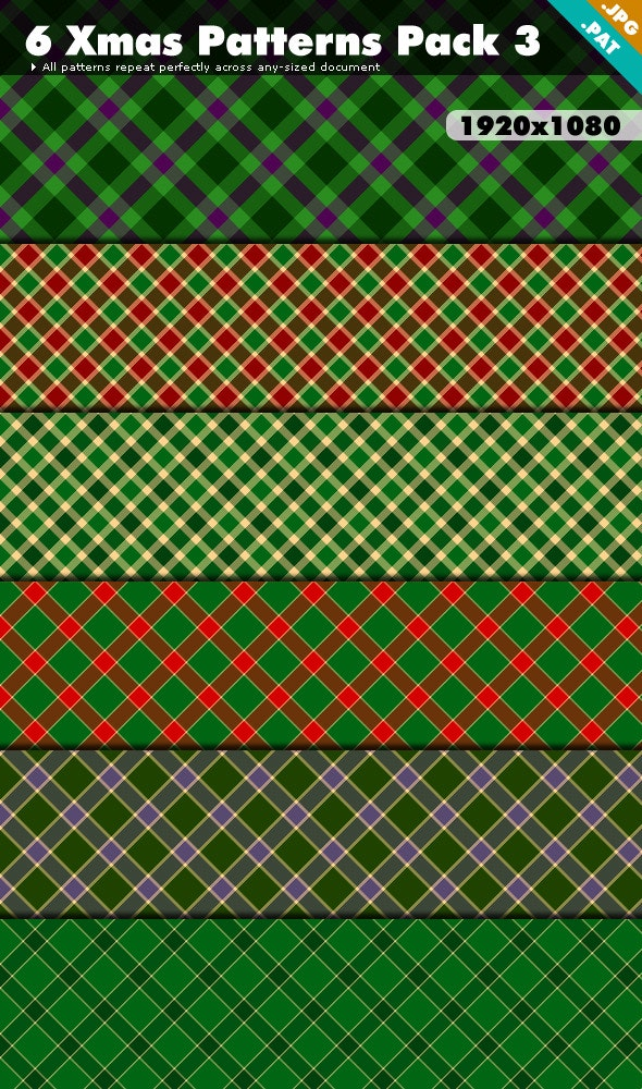 Xmas Patterns Pack 3 - Textures / Fills / Patterns Photoshop