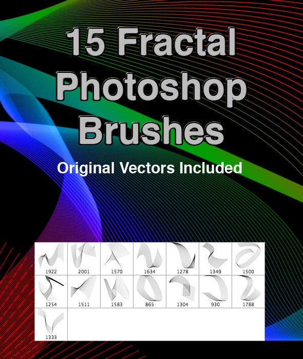 15 Fractal PS Brushes - Abstract Brushes