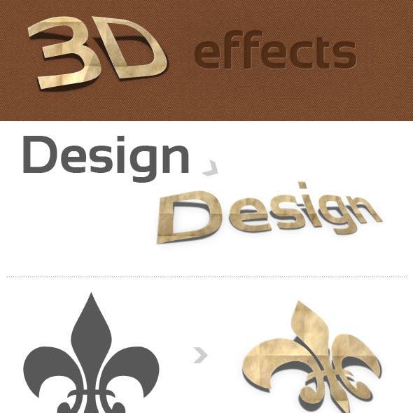3D Photoshop Action v.1 (paper effect)