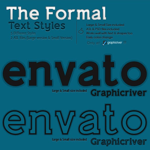 The Formal - Text Styles