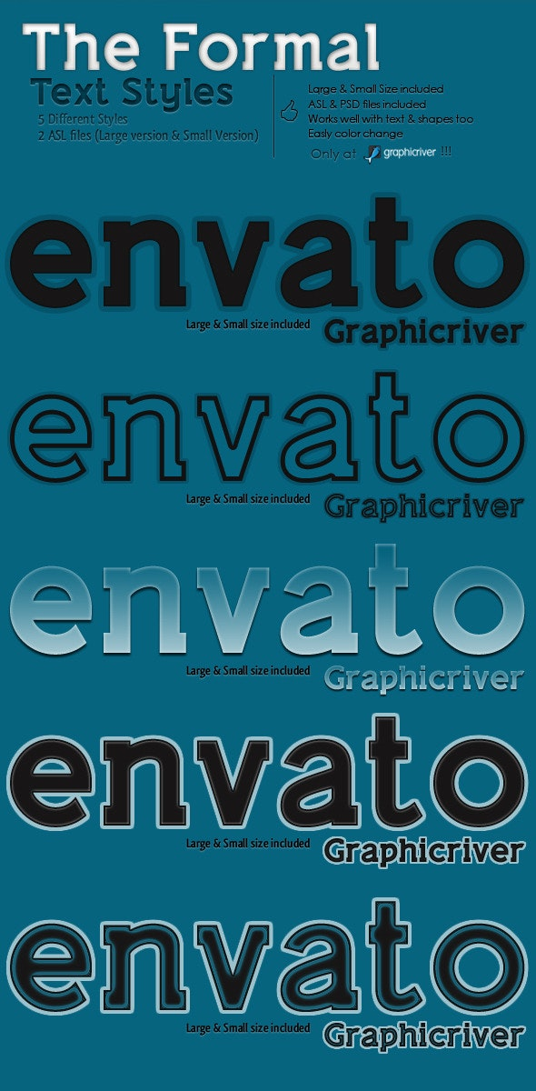 The Formal - Text Styles - Text Effects Styles