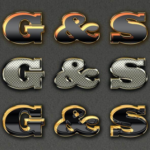 Gold and Silver Text Effects v.2