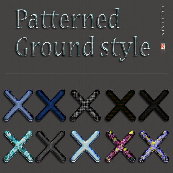 Patterned Ground Text Effects and Styles