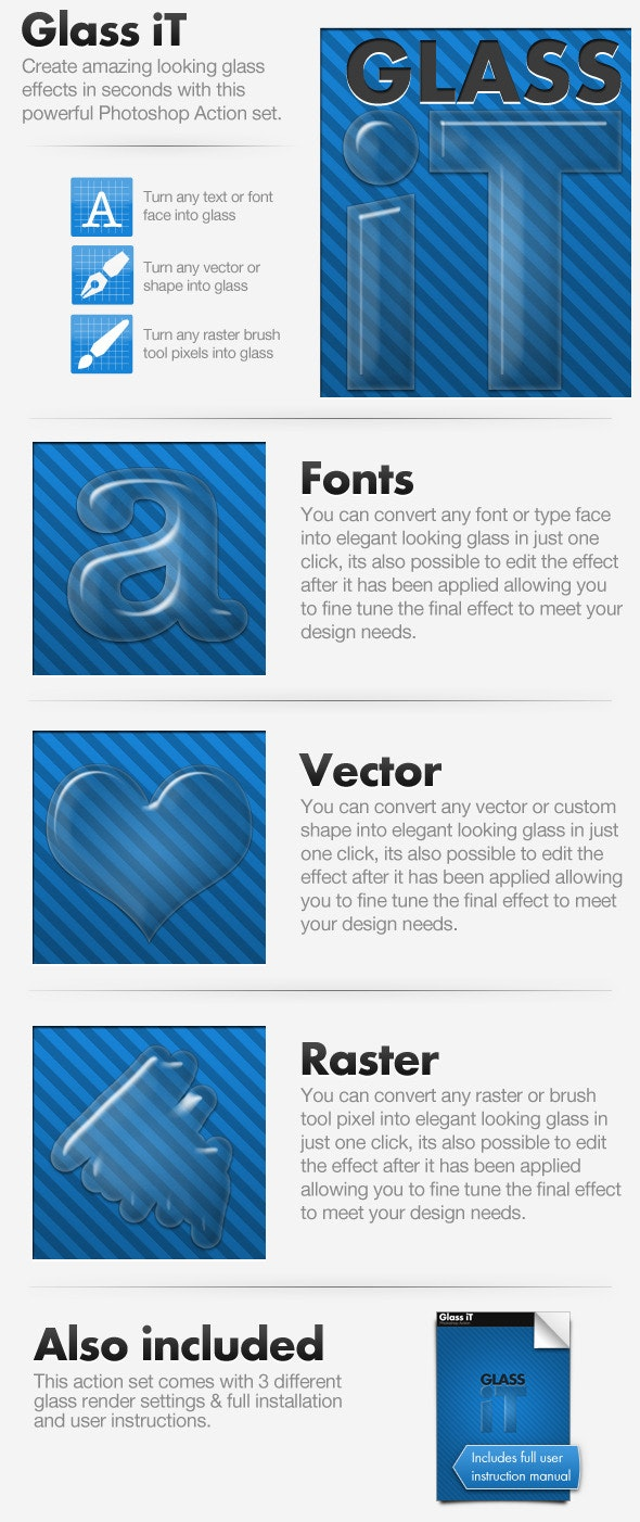 Glass iT - Glass Creating Action - Text Effects Actions