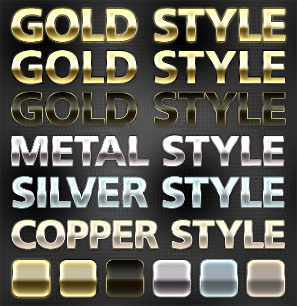 Metal Styles - Text Effects Styles