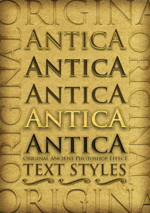 Antica - Original Ancient Text Layer Styles - Text Effects Styles