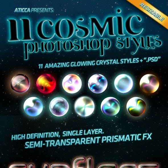 11 Futuristic Crystal PS Styles
