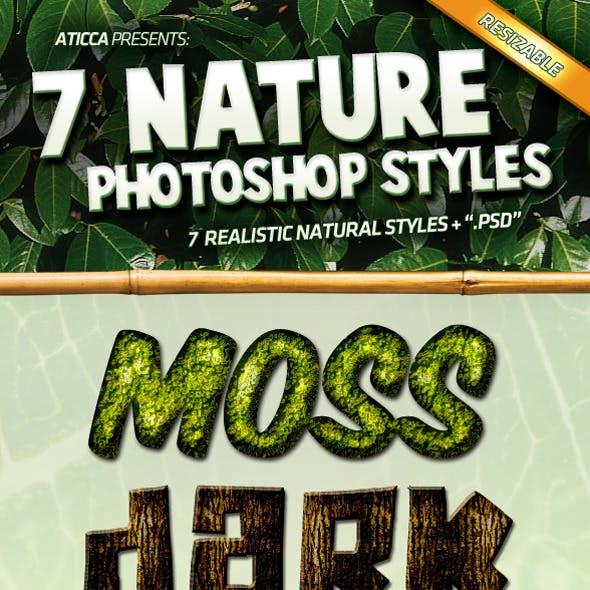 7 Nature Photoshop Styles