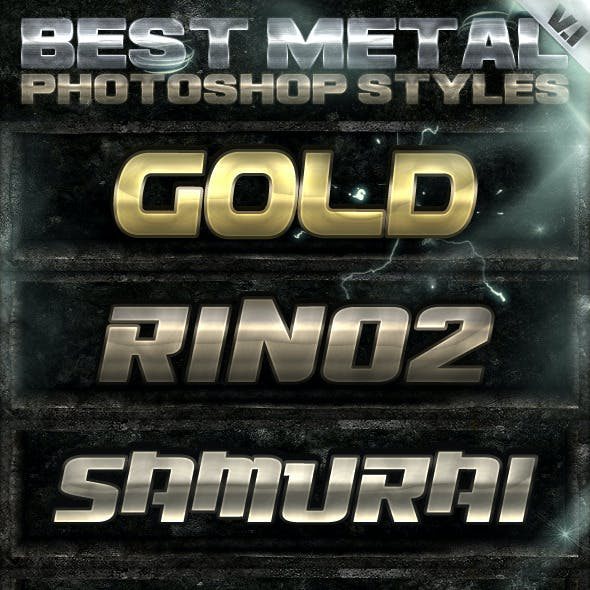 10 Metal Photoshop Styles