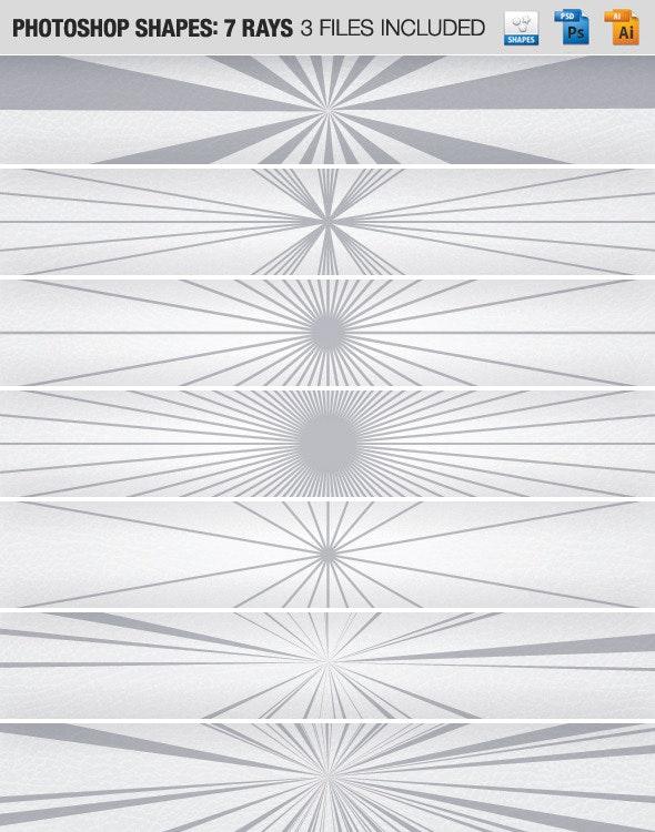 7 Rays - Shapes Photoshop