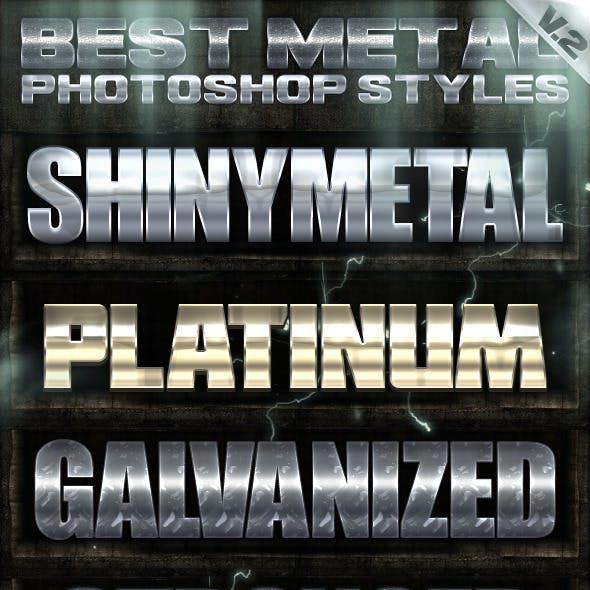 10 Metal Photoshop Styles 2of2