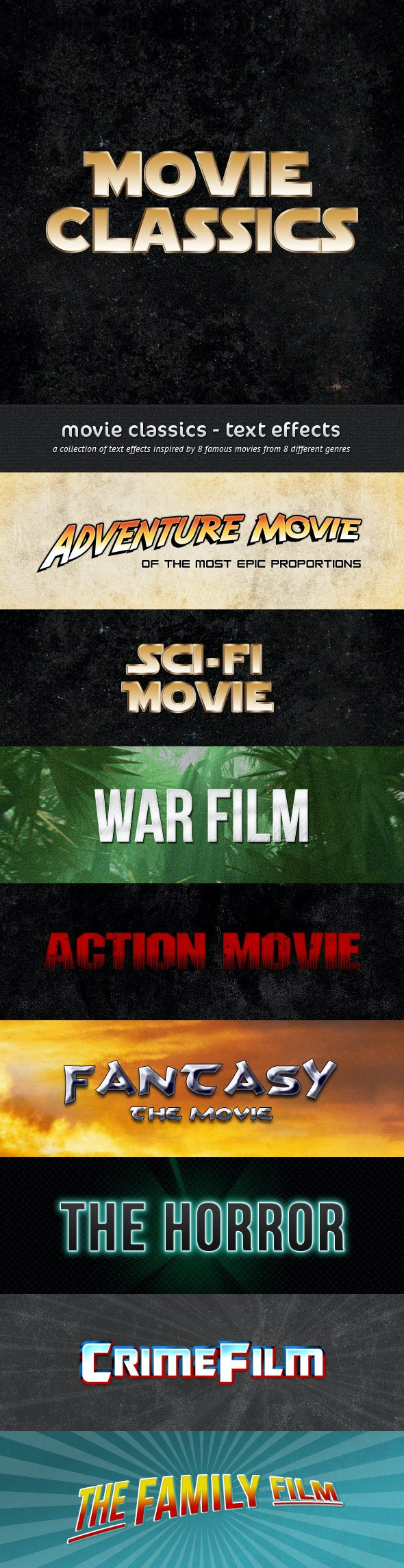 Movie Classics - Text Effects - Text Effects Styles