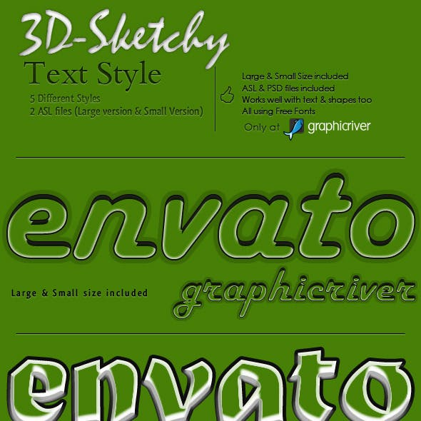 3D Sketchy Text Styles