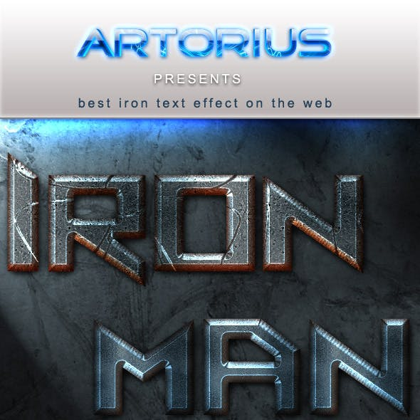 Iron Man Text Styles