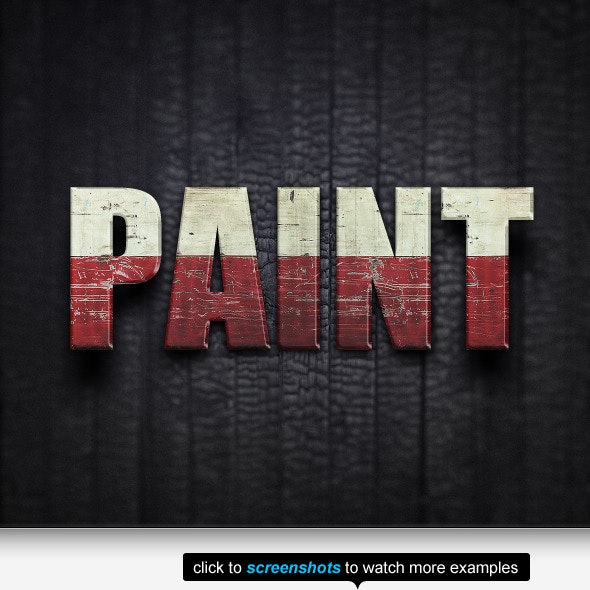 The Old Paint Text Effects & Styles - Text Effects Styles