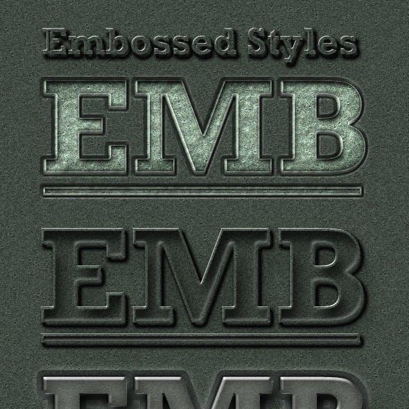 Embossed 3D-Look Styles