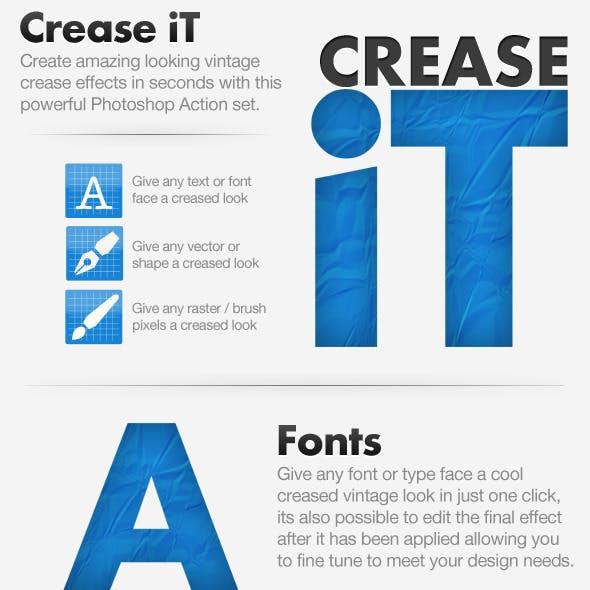 Crease iT - Get The Vintage Creased Look