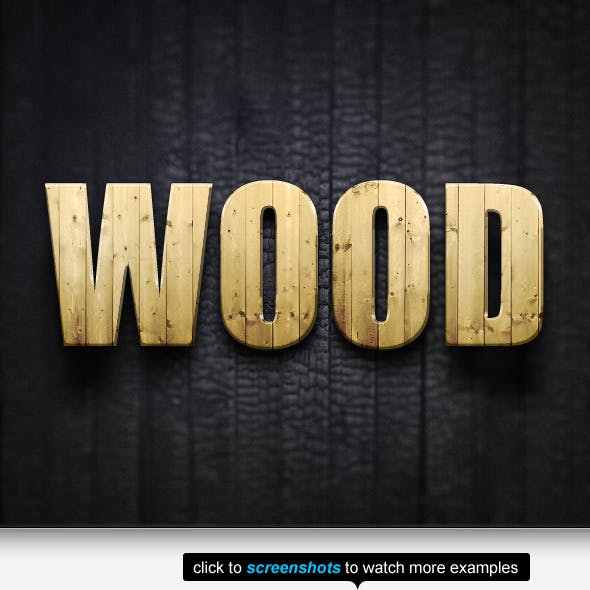 The Wood Text Effects & Styles