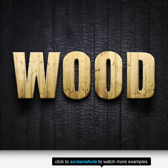The Wood Text Effects & Styles - Text Effects Styles