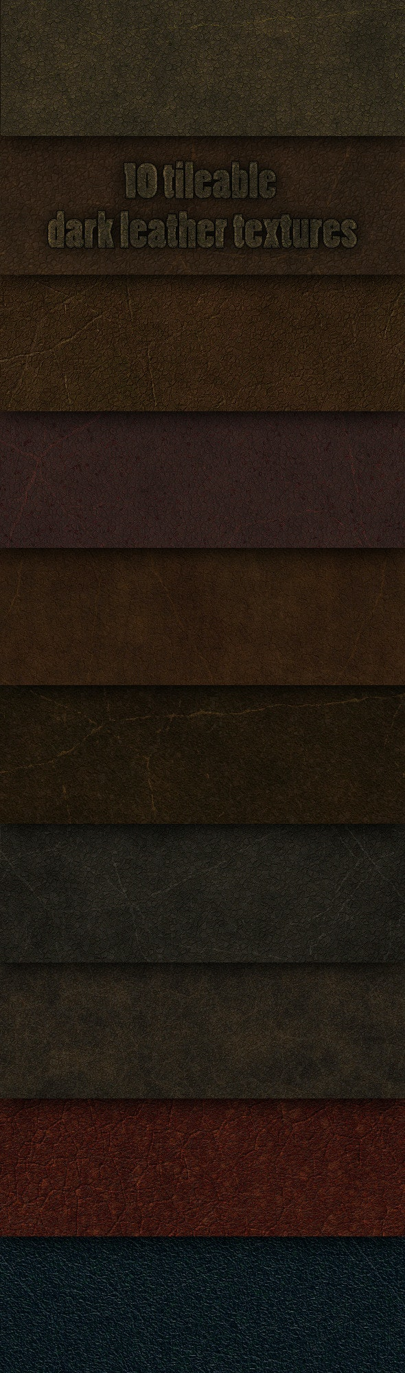 10 tileable dark leather textures - Fabric Textures