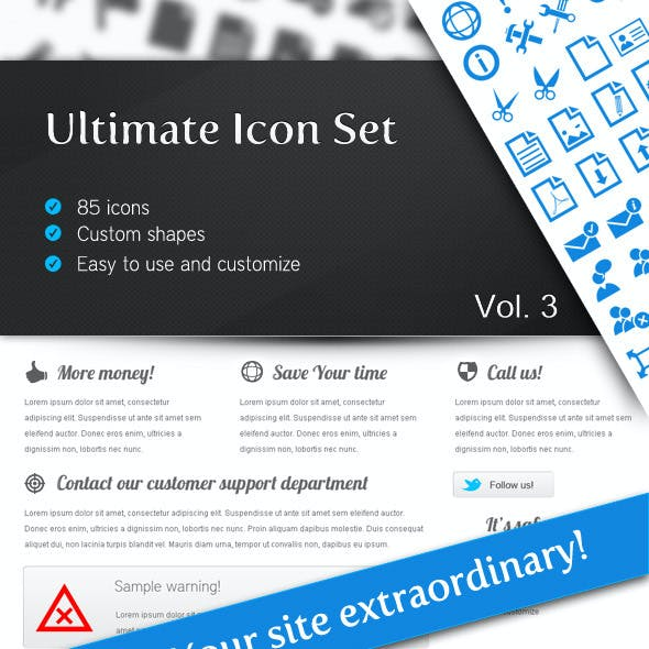 Ultimate Icon Set Vol 3