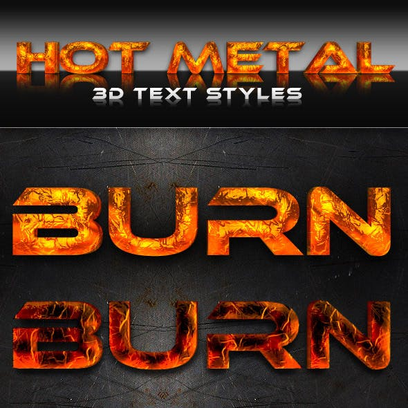 Hot Metal 3D Text Styles