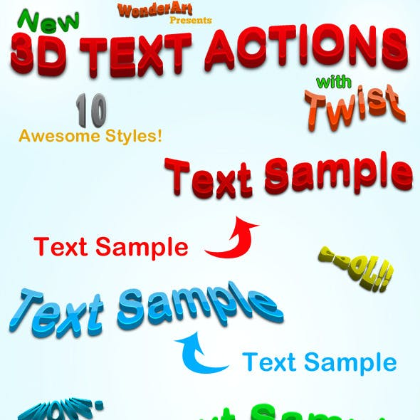 3D Warped Text Action