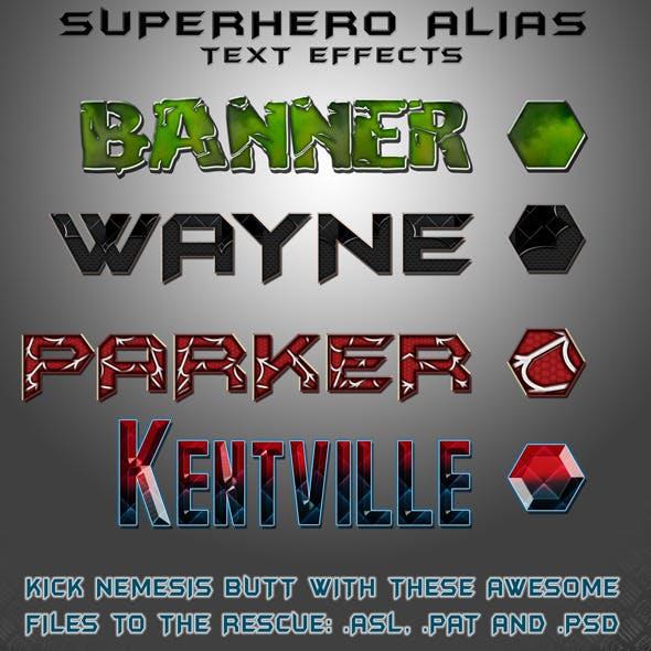 SUPER HERO text styles!
