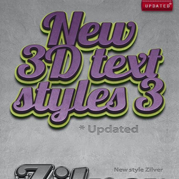 New 3D Text Styles #3