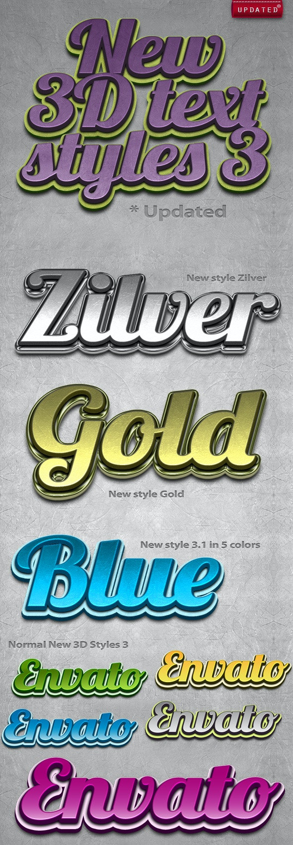 New 3D Text Styles #3 - Text Effects Styles