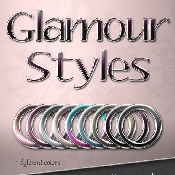 Glamour Photoshop Text Styles