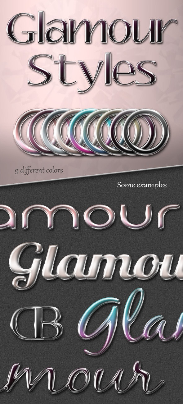 Glamour Photoshop Text Styles - Text Effects Styles