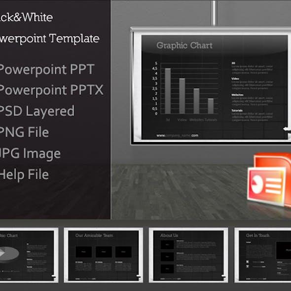 Black&White Presentation Template