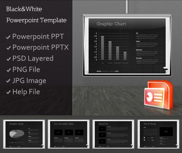 Black&White Presentation Template - PowerPoint Templates Presentation Templates