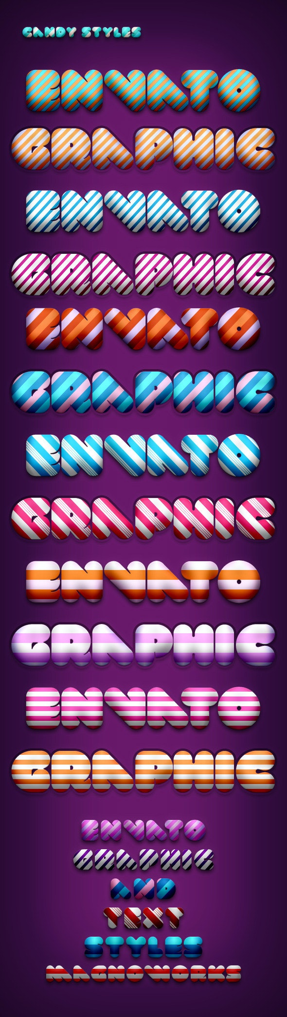 Candy Styles - Text Effects Styles