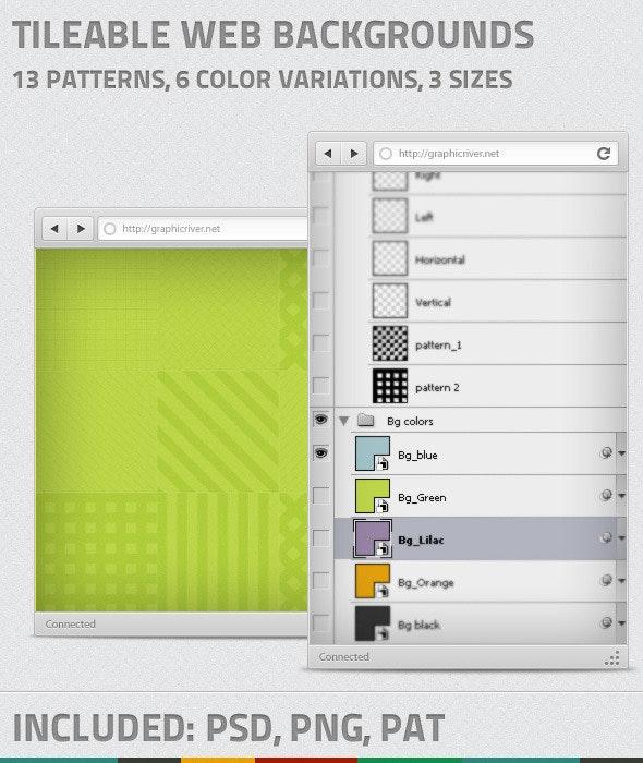 Tileable web backgrounds patterns - Textures / Fills / Patterns Photoshop
