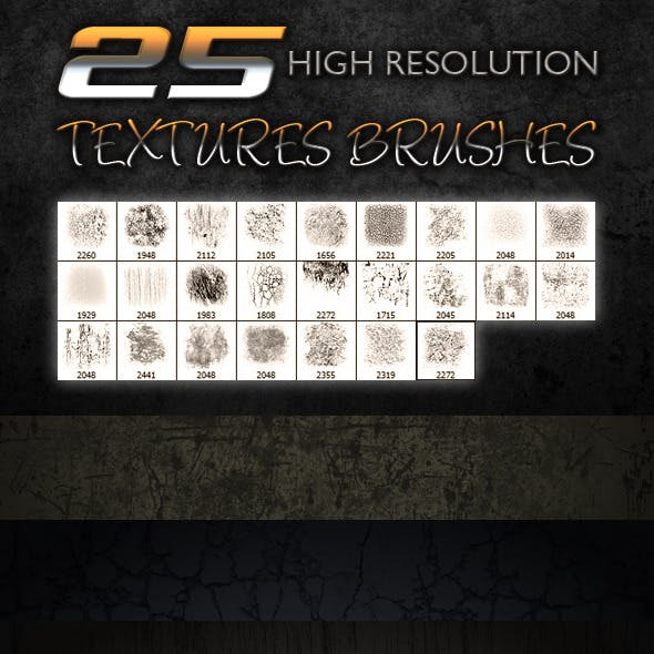 25 Textures Brushes